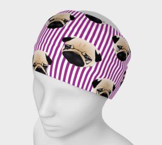 Aperçu de Pugs on Purple Stripes