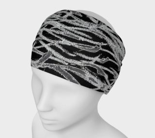Aperçu de Black White Abstract Lines Headband