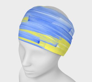 Paintstrokes in Blue and Yellow Headband preview