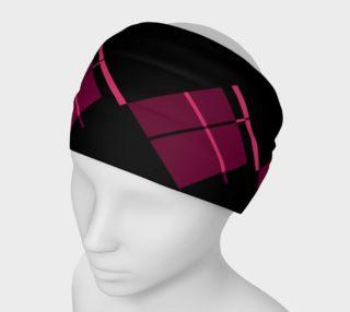 Aperçu de Pink Pink Plaid on Black Headband