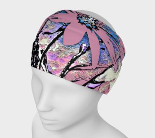 Aperçu de Pink Abstract Floral Print Headband
