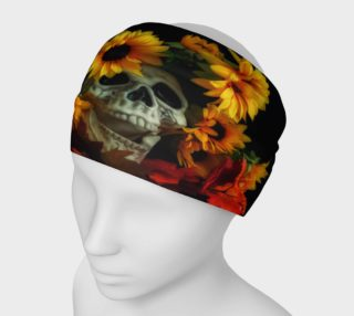 Aperçu de Skull and Flowers Headband