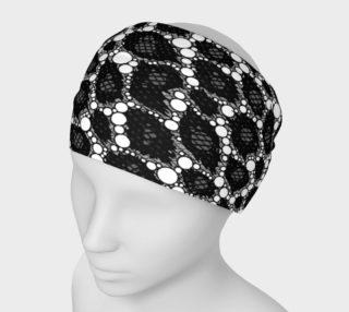 Black Cheetah Print Headband  preview