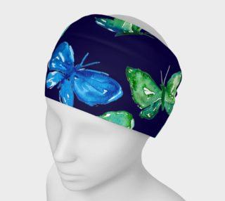 Aperçu de Butterflies on Navy Blue