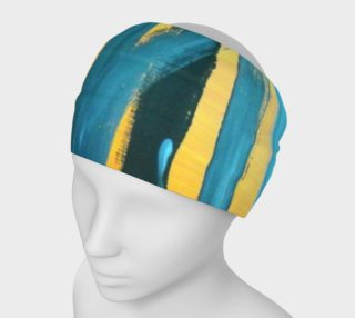 Abstract Trees in Blue and Yellow Headband preview