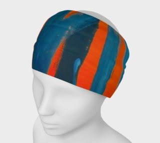 Abstract Trees in Blue and Orange Headband preview