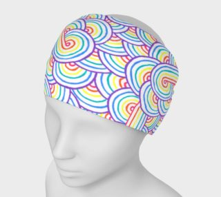 Rainbow and white swirls doodles Headband preview