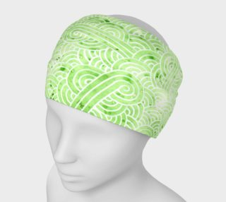 Greenery and white swirls doodles Headband preview
