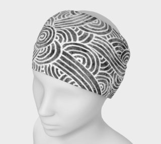 Grey and white swirls doodles Headband preview