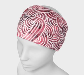 Red and white swirls doodles Headband preview