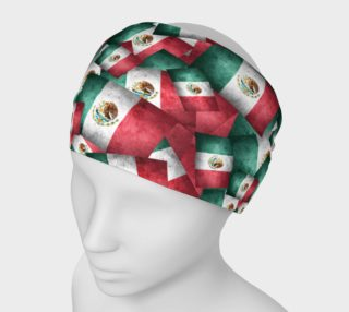 Grunge-Style Mexican Flag  preview