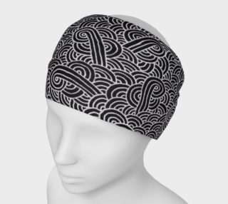 Faux silver and black swirls doodles Headband aperçu