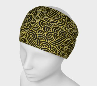 Faux gold and black swirls doodles Headband preview