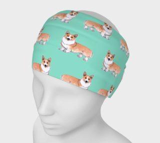 Welsh corgi dogs pattern Headband preview