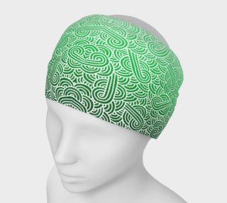 Ombre green and white swirls doodles Headband preview