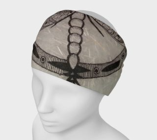 White Dragonfly Headband - Japanese Gen Washi Fiber Texture preview