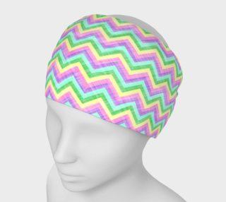 Pastel Chevron Pattern Headband preview
