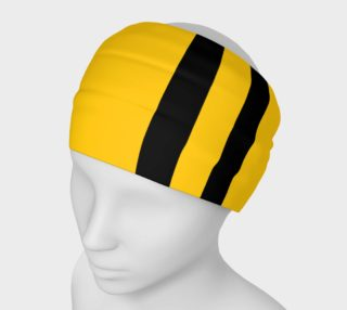 Yinz Black and Yellow Headband aperçu