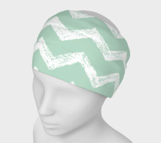 Chevron Green and White Headband preview