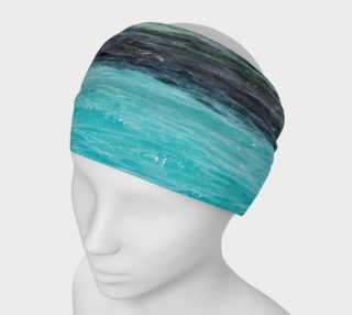 Headband/facewarmer/scarf turquoise ocean preview