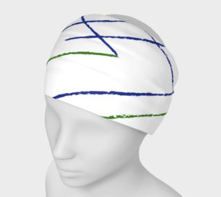 Blue and Green Lines Headband preview