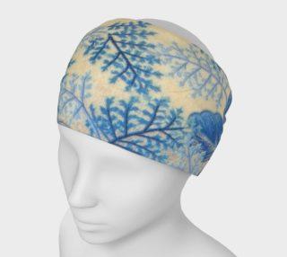 Blue Ferns Headband 1950 vintage pattern preview