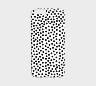 Black Polka Dot iPhone 6 Case preview