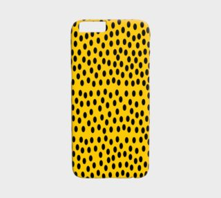 Black Polka Dot Yellow iPhone 6 Case preview