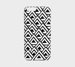 Black White Triangles iPhone 6 Case preview