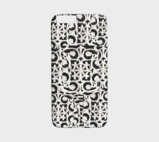 Pretty white designs on iPhone 6 case preview