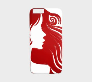 Chic Curls Silhouette iPhone 6 Case preview