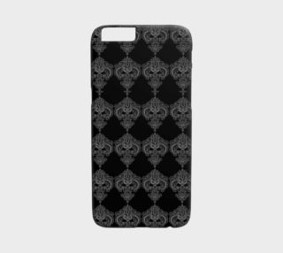 White on Black Damask iPhone 6 Case preview