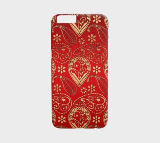 Tendy Gold and Red Paisley iPhone 6 Case preview