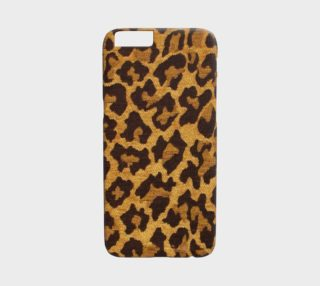 Aperçu de Brown and Gold Leopard Print iPhone 6 Case