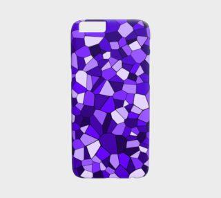 Purple Monochrome Geometric Mosaic Pattern preview