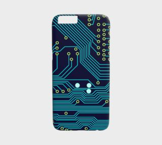 Teal Circuit Board - iphone6 case preview