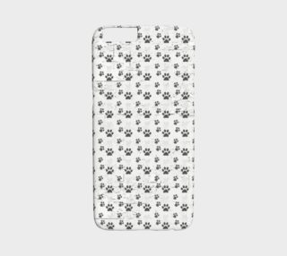 Puppy Paw Prints Grey And White iPhone 6 Case preview