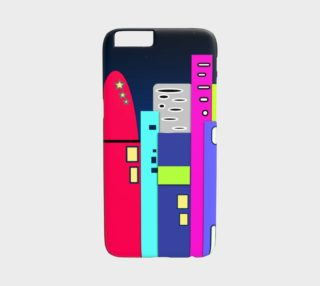 Aperçu de Space City iPhone 6 Case