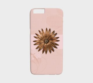 Metallic flower on Pink preview