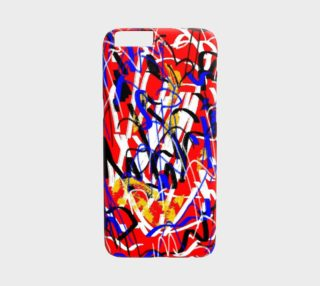 Abstract red white preview