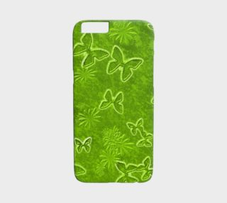 Lime Green Butterfly iPhone 6 Case preview
