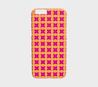 Aperçu de Hot Pink and Yellow Tile Pattern iPhone 6 /6S Case