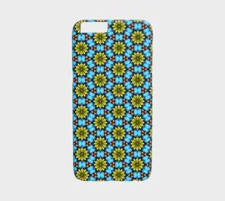 Aperçu de Turquoise Floral Pattern iPhone 6 /6S Case