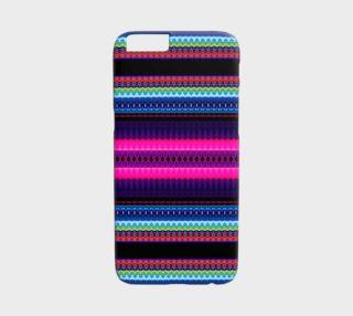 Aperçu de Pink and Blue Aztec iPhone 6 /6S Case