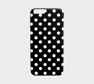 Aperçu de Black and White Polka Dots iPhone 6 /6S Case