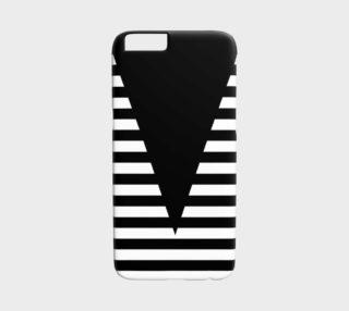 Aperçu de White Black Stripes Big Triangle iPhone6