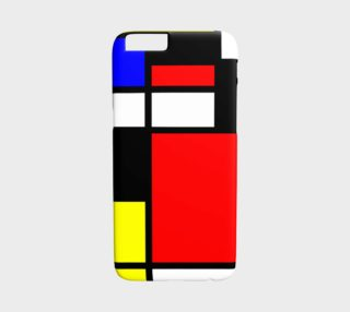 Aperçu de Mosaic DE STIJL Style black yellow red blue