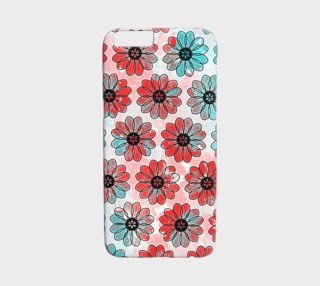 Teal and Red Floral  preview