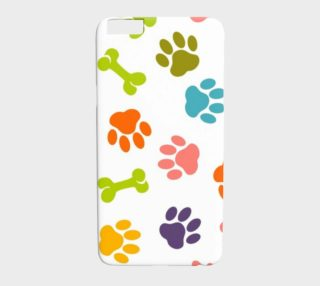 Colorful Paws and Bones Dog Lover Smartphone Case preview