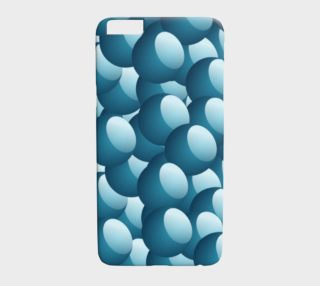 Blue Bubbles Phone Case preview